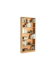 Maine Tall Wide Bookcase - Beech Effect.