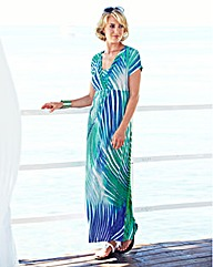 Print Short Sleeve Maxi Dress
