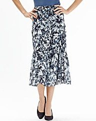 qyNightingales Print Skirt length 32 in.