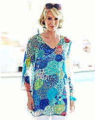 Nightingales Printed Tunic With Camisole