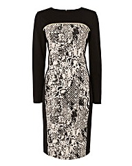 Frank Walder Animal Print Dress