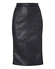 Joseph Ribkoff Mock Leather Pencil Skirt