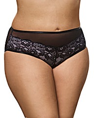 Ashley Graham CrissCross Mesh/Lace Brief