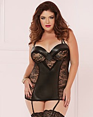 STM Statement Piece Black Chemise Set