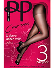 Pretty Polly 3 Pack 15 Denier Tights