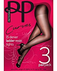 Pretty Polly 3 Pack 15 Denier Tights