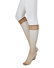 Pretty Polly 2Pack Comfort Top KneeHighs