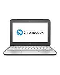 HP Chromebook 11in Laptop Silver