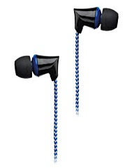 Intempo Fabric Cable Headphones Blue