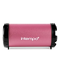 Intempo Large Tube Speaker Pink