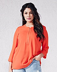 Ring Pull Zip Blouse