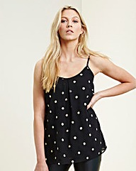 Black Mirror Ball Camisole