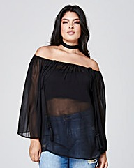 Gather Tassel Top