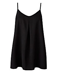 Black Pleat Camisole