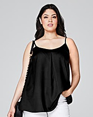 Black Pleat Camisole