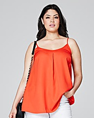 Orange Pleat Camisole
