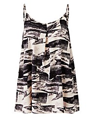 Mono Print Pleat Camisole