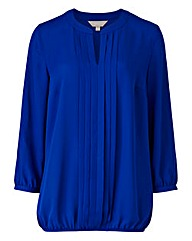 Blue Pleat Detail Blouse