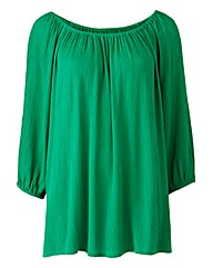 Green Cold Shoulder Gypsy Top