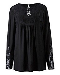 Black Victoriana Blouse