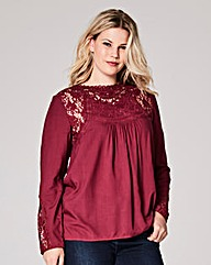 Deep Purple Victoriana Blouse
