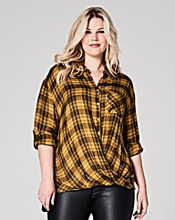 Yellow Wrap Check Shirt