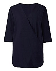 Navy Wrap Shirt