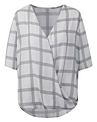 Check Wrap Shirt