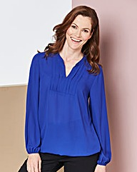Cobalt Box Pleat Blouse