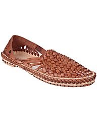 Base London Aztec Weave Slip on Shoe
