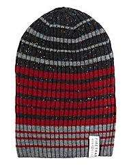 Firetrap Striped Beanie Hat
