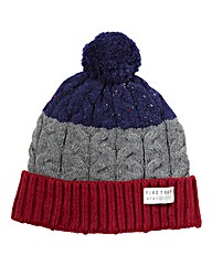 Firetrap Colour Block Bobble Hat