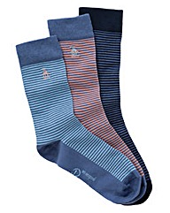 Penguin Pack of 3 Striped Socks