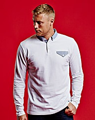 Flintoff By Jacamo Long Sleeve Polo Reg