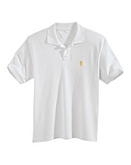 Jacamo White Embroidered Polo Regular