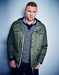 Flintoff By Jacamo Pocket Coat Regular