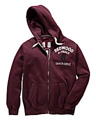 Jacamo Oakland Full Zip Hooded Top Long