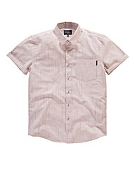 Peter Werth Short Sleeve Stripe Shirt L