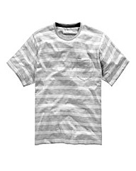 Jacamo Jasper Slub Stripe T-Shirt Long