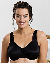 Miss Mary Moulded Full Cup Black Bra