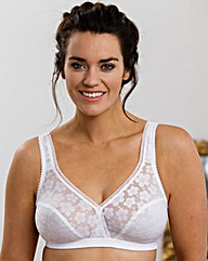 Miss Mary Stylish Non Wired White Bra