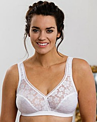 Miss Mary Stylish Full Cup White Bra