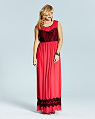 Lovedrobe Lace Trim Maxi Dress