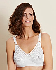 Miss Mary Non Wired White Bra