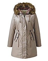 Angel Ribbons Rosa Hooded Parka Jacket