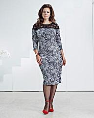 Anna Scholz Marble Print Dress