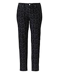 Lovedrobe Baroque Flock Skinny Jeans