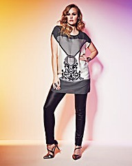 Grazia Baroque Print Tunic Top