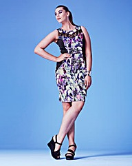 Grazia Orchid Print Dress