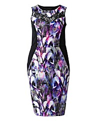 Grazia Orchid Print Bodycon Dress